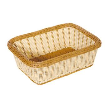 GETWB1518TT - GET Enterprises - WB-1518-TT - Designer Polyweave Two-Tone 15 in x 11 in Basket Product Image