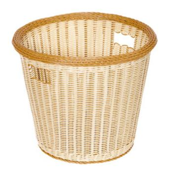 GETWB1523TT - GET Enterprises - WB-1523-TT - Designer Polyweave Two-Tone 17 in Round Basket Product Image