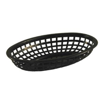 86378 - Tablecraft - 1074BK - Oval Black Plastic Baskets Product Image