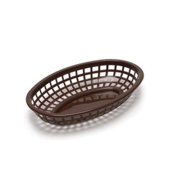 85773 - Tablecraft - 1074BR - Oval Brown Plastic Baskets Product Image