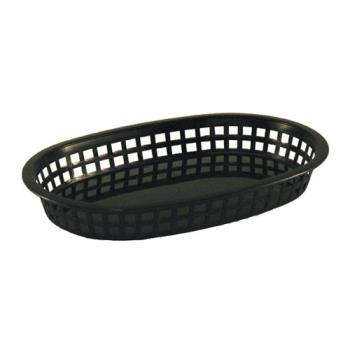86397 - Tablecraft - 1076BK - Oval Black Plastic Platter Baskets Product Image