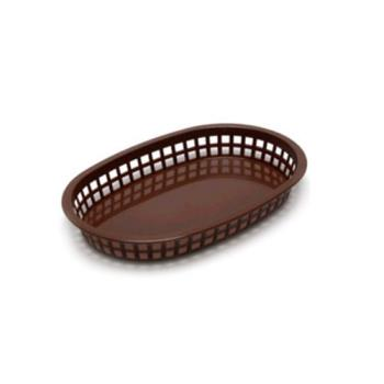 58450 - Tablecraft - 1076BR - Brown Chicago Platter Oval Basket Product Image