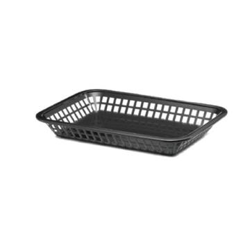 85695 - Tablecraft - 1077BK - Rectangular Black Plastic Platter Baskets Product Image