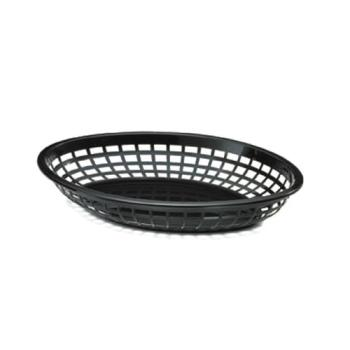 85697 - Tablecraft - 1084BK - Oval Black Plastic Baskets Product Image