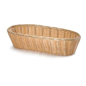 51550 - Tablecraft - 1113W - 13 in x 5 in Oblong Woven Poly Rattan Basket Product Image