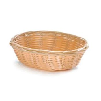 58690 - Tablecraft - 1171W - 7 in Oval Natural Woven Basket Product Image