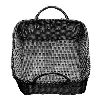 TABM2493H - Tablecraft - M2493H - 19 in x 4 in Ridal Black Woven Basket Product Image