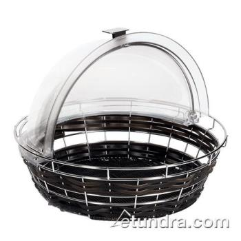 "WOR4246135 - World Cuisine - 42461-35 - 13 7/8"" Round Black Polyrattan Bread Basket Product Image"