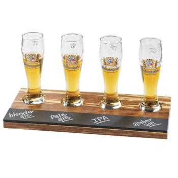 CLM2064 - Cal-Mil - 2064 - Write-On Crushed Bamboo Beer Flight Taster Board Product Image