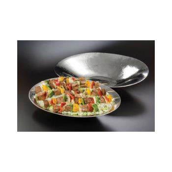 "AMMHMOV1418 - American Metalcraft - HMOV1418 - 18 5/8"" x 14 1/4"" Hammered Stainless Steel Bowl Product Image"