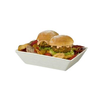 AMMPORRB96 - American Metalcraft - PORRB96 - 9 in x 6 in Porcelain Bowl Product Image