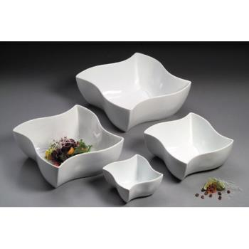 "AMMSQVY12 - American Metalcraft - SQVY12 - 12"" Squavy White Porcelain Bowl Product Image"