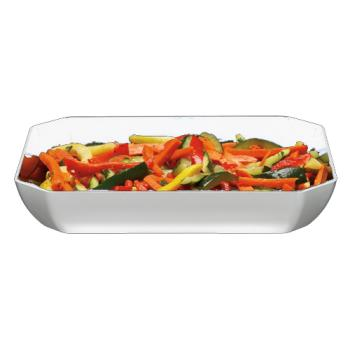 CAMSFG1012148 - Cambro - SFG1012148 - ShowFest® 3 Qt White Octagonal Dish Product Image