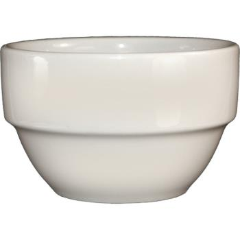 ITWSTB8AW - ITI - STB-8-AW - 8 1/2 Oz American White Stackable Bowl Product Image