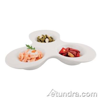 WOR4484938 - World Cuisine - 44849-38 - 3-Section Melamine Appetizer Dish Product Image