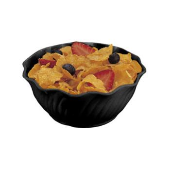 CAMSRB13110 - Cambro - SRB13110 - SAN Swirl Bowl® 13 oz Black Serving Dish Product Image