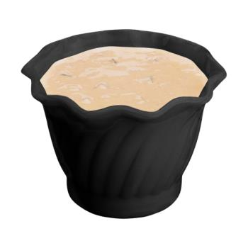CAMSRB5CW110 - Cambro - SRB5CW - Camwear® Swirl Bowl® 5 oz Black Serving Dish Product Image