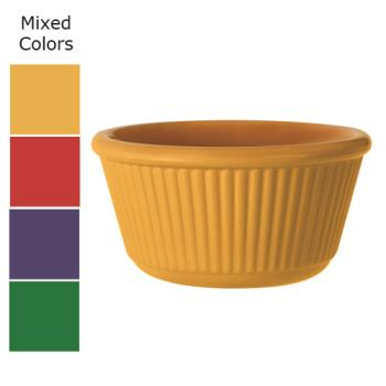 GETRM401MIX - GET Enterprises - RM-401-MIX - 4 oz Mardi Gras Mix Fluted Melamine Ramekin Product Image