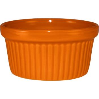 ITWRAMF10O - ITI - RAMF-10-O - 8 oz Orange fluted ramekin Product Image