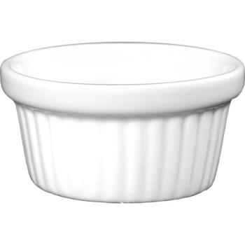81366 - ITI - RAMF-2-EW - 2 oz European White Fluted Ramekin Product Image