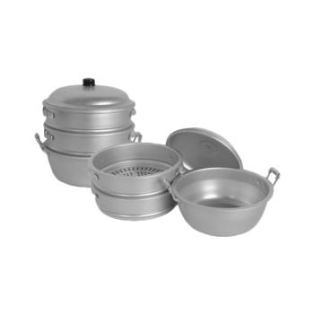 THGALST010 - Thunder Group - ALST010 - 17 in Large Hole Aluminum Steamer Set Product Image