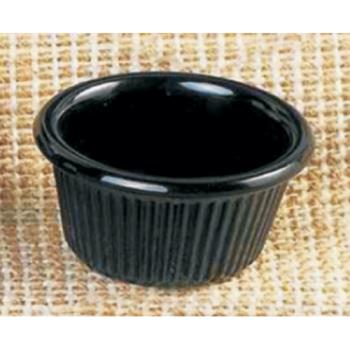 "THGML507BL - Thunder Group - ML507BL - 2 1/2""-1.5 oz. Black Fluted Ramekin Product Image"