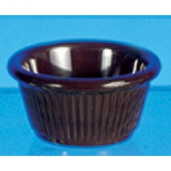 THGML509C - Thunder Group - ML509C1 - 2 7/8 in - 2 oz Chocolate Fluted Ramekin Product Image