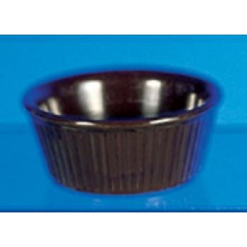 "THGML533C - Thunder Group - ML533C - 3 3/8""- 3 oz. Chocolate Fluted Ramekin  Product Image"