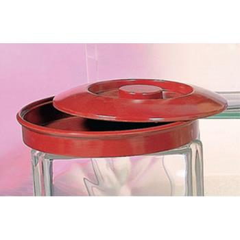 "THGNS608R - Thunder Group - NS608R - 8 1/4"" Nustone Red Tortilla Server w/Lid Product Image"