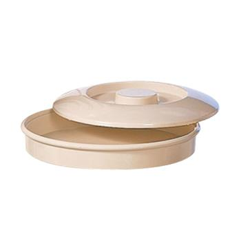 "THGNS608T - Thunder Group - NS608T - 8 1/4"" Nustone Tan Tortilla Server w/Lid Product Image"
