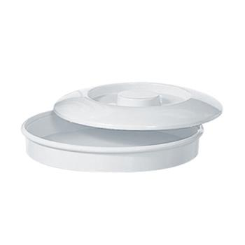"THGNS608W - Thunder Group - NS608W - 8 1/4"" Nustone White Tortilla Server w/Lid Product Image"