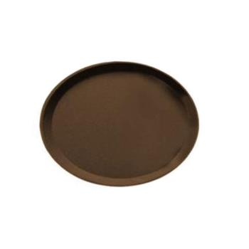 76515 - Cambro - 2500CT - Camtread 19 in x 23 in Oval Tan Serving Tray Product Image