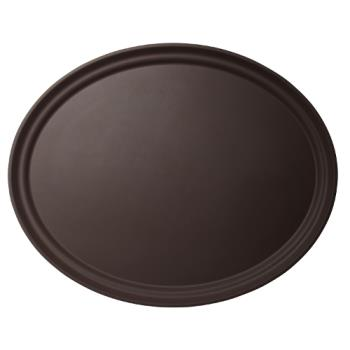 76515 - Cambro - 2500CT138 - Camtread® 19 in x 23 in Oval Tan Serving Tray Product Image