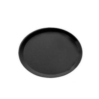 76573 - Cambro - 2700CT110 - Camtread 22 in x 27 in Oval Black Serving Tray Product Image