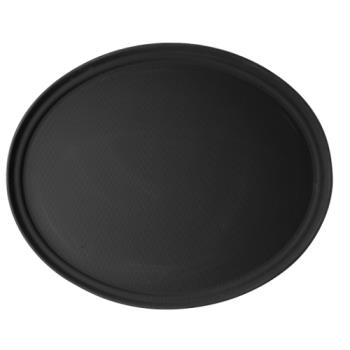 CAM2900CT110 - Cambro - 2900CT110 - Camtread 29 in x 23 in Oval Black Serving Tray Product Image