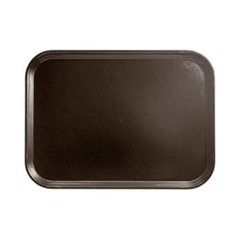 CAMPT1418167 - Cambro - PT1418 - Polytread 14 in x 18 in Brown Serving Tray Product Image