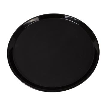 75322 - Cambro - PT1600110 - 16 in Round Black Polytread® Serving Tray Product Image