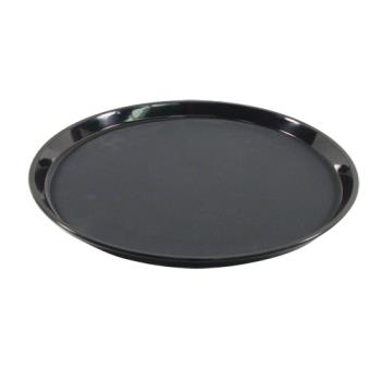 86356 - Carlisle - 1400GL004 - GripLite® 14 in Round Black Serving Tray Product Image
