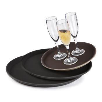 GETNS1100BR - GET Enterprises - NS-1100-BR - 11 in Round Brown Serving Tray Product Image