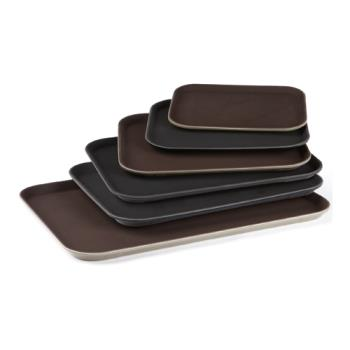 GETNS1418BR - GET Enterprises - NS-1418-BR - 14 in x 18 in Brown Serving Tray Product Image