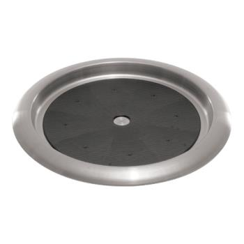 86542 - Service Ideas - TR119SR - 11 in Round Stainless Steel Serving Tray Product Image