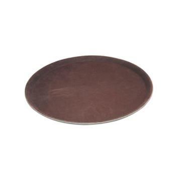 WINTRH11 - Winco - TRH-11 - 11 in Round Brown Serving Tray Product Image