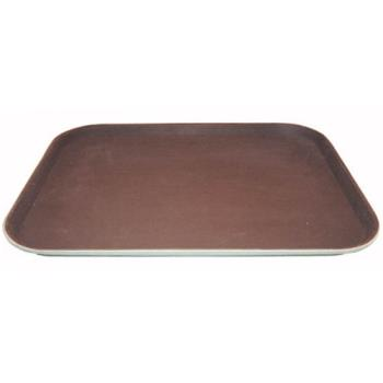 WINTRH1418 - Winco - TRH-1418 - 14 in x 18 in Brown Serving Tray Product Image
