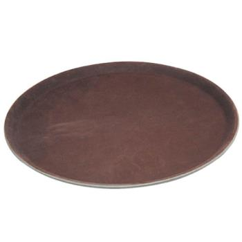 WINTRH16 - Winco - TRH-16 - 16 in Round Brown Serving Tray Product Image