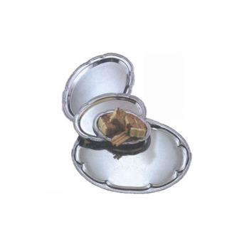 AMMSTOV1813 - American Metalcraft - STOV1813 - 18 in x 13 in Oval Chrome Affordable Elegance™ Tray Product Image