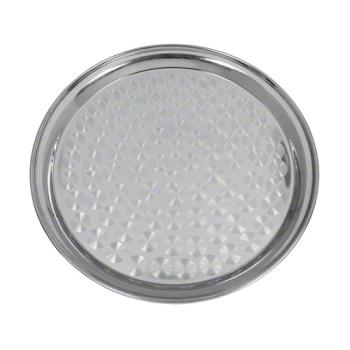 76691 - Update International - SST-12R - 12 in Round Stainless Steel Serving Tray Product Image