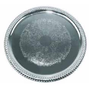 WINCMT14 - Winco - CMT-14 - 14 in Round Chrome Serving Tray Product Image
