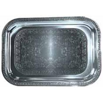 WINCMT1812 - Winco - CMT-1812 - 18 in x 12 1/2 in Chrome Serving Tray Product Image