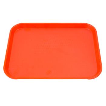 75288 - Cambro - 1014FF166 - 10 in x 14 in Orange Fast Food Tray Product Image