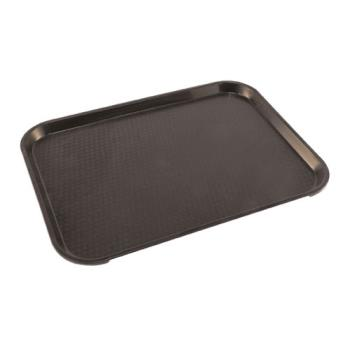 86374 - Cambro - 1216FF-110 - 12 in x 16 in Black Fast Food Tray Product Image